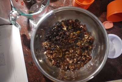 steeping the dried fruit