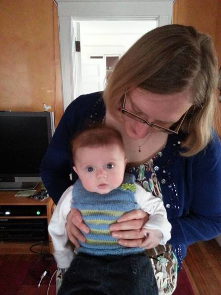 Lilli in her vest