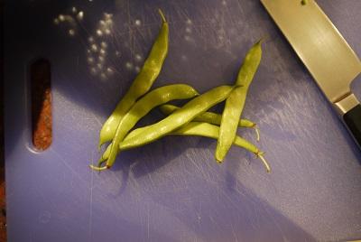 wide, flat beans