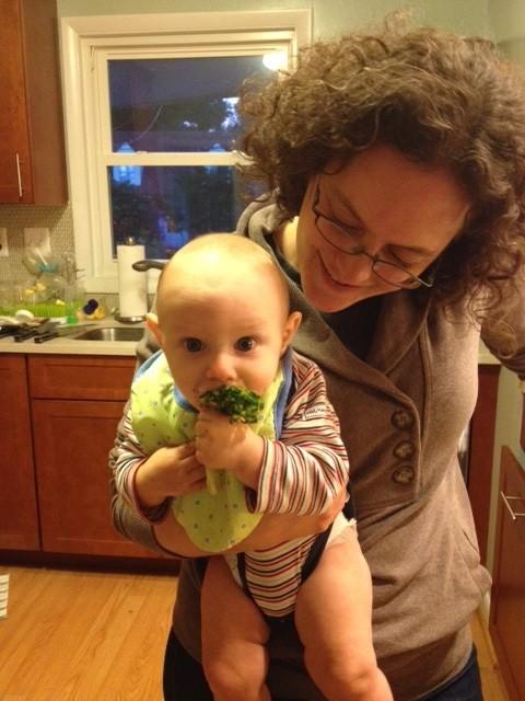 BONUS PHOTO! Leo eating roasted broccoli