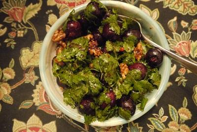 cherry herb salad